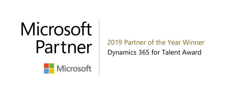 Microsoft Partner of the year winner dynamics 365 Talent