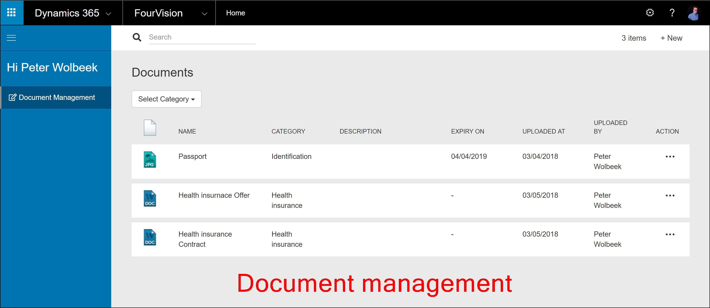 Document management web app Dynamics 365 Talent
