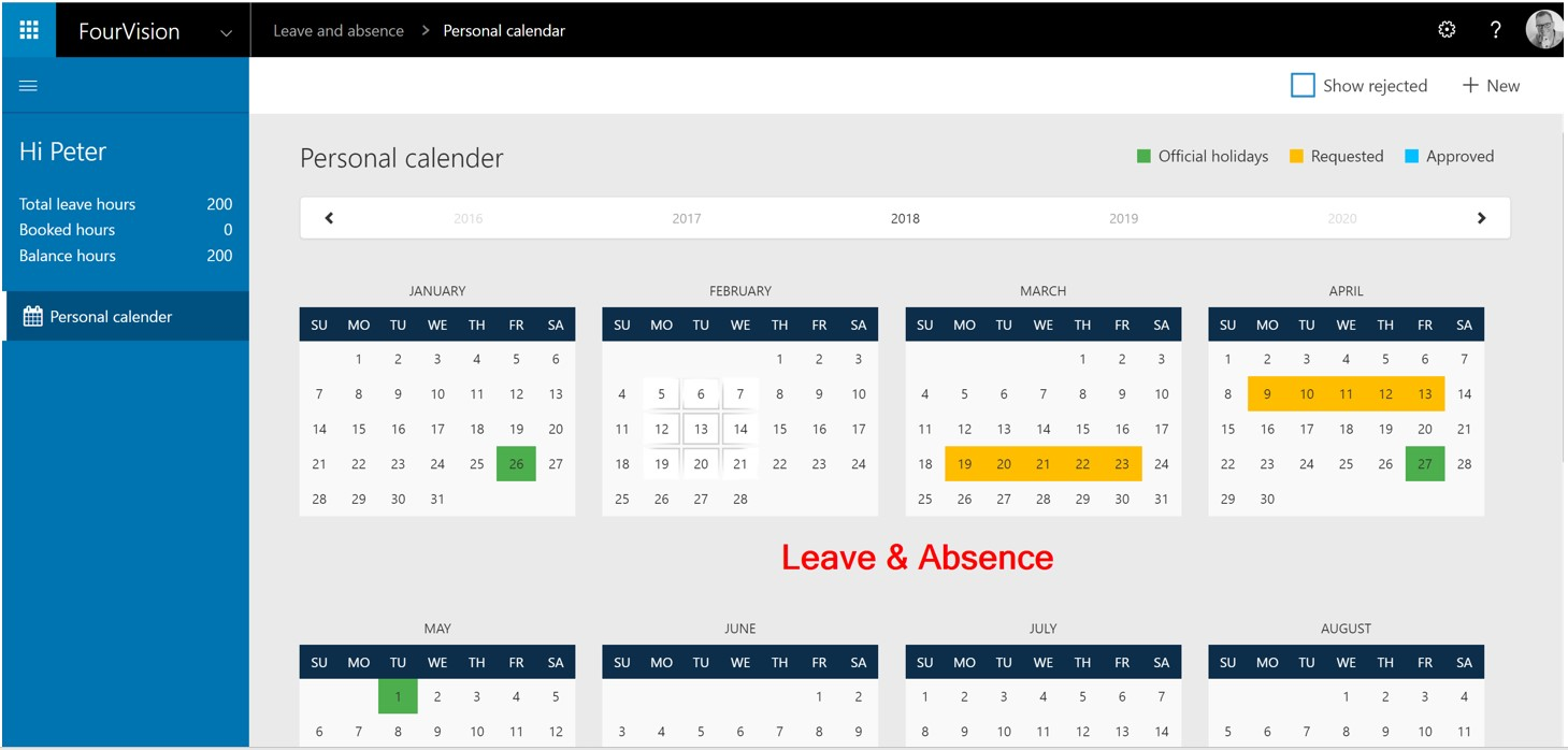 Dynamics 365 Talent Leave and absence web app