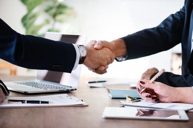 job recruitment hr deal handshake