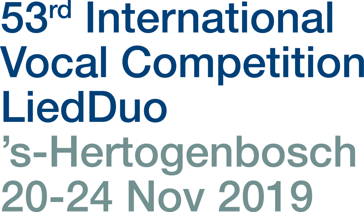53rd International Vocal Competition LiedDuo 's-Hertogenbosch 20-24 Nov 2019